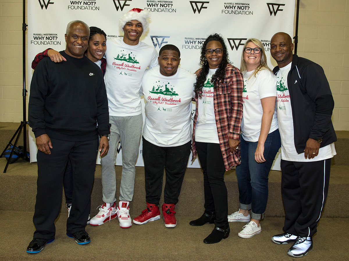 OKLAHOMA CITY, OK - DECEMBER 13 : Russell Westbrook's Why Not Foundation in conjunction with Citizens Caring for Children Christmas Party on December 12, 2013 in Oklahoma City, Oklahoma. NOTE TO USER:  User expressly acknowledges and agrees that, by downloading and/or using this photograph, user is consenting to the terms and conditions of the Getty Images License Agreement. Mandatory Copyright Notice:  Copyright 2014 NBAE (Photo by Richard Rowe/NBAE via Getty Images)
